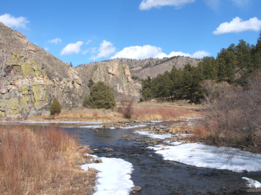 The Poudre River at Gateway Natural Area
